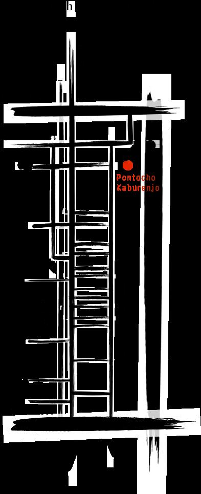 Pontocho Area Map